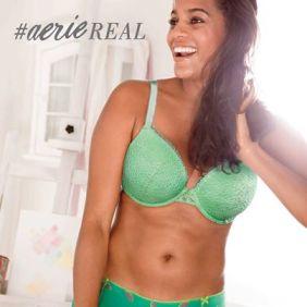 Campanha #aeriereal da marca de lingerie americana Aerie