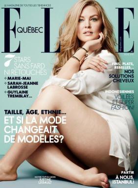 Capa da revista ELLE Quebec - maio 2013