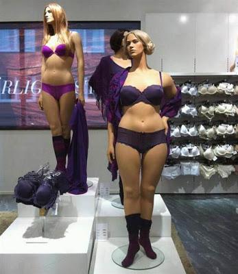 """Manequins em tamanhos """"reais"""""""
