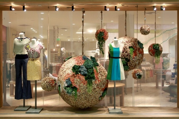 anthropologie earth day window display