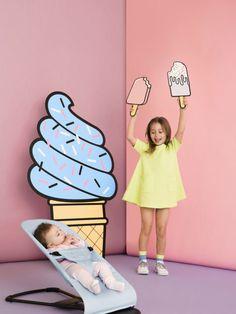 Desenhos e ilustrações são ótimos recursos para criara cenários infantis. Foto: Pinterest.